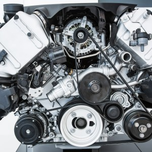 Car Engine - Modern powerful car engine(motor unit - clean and s